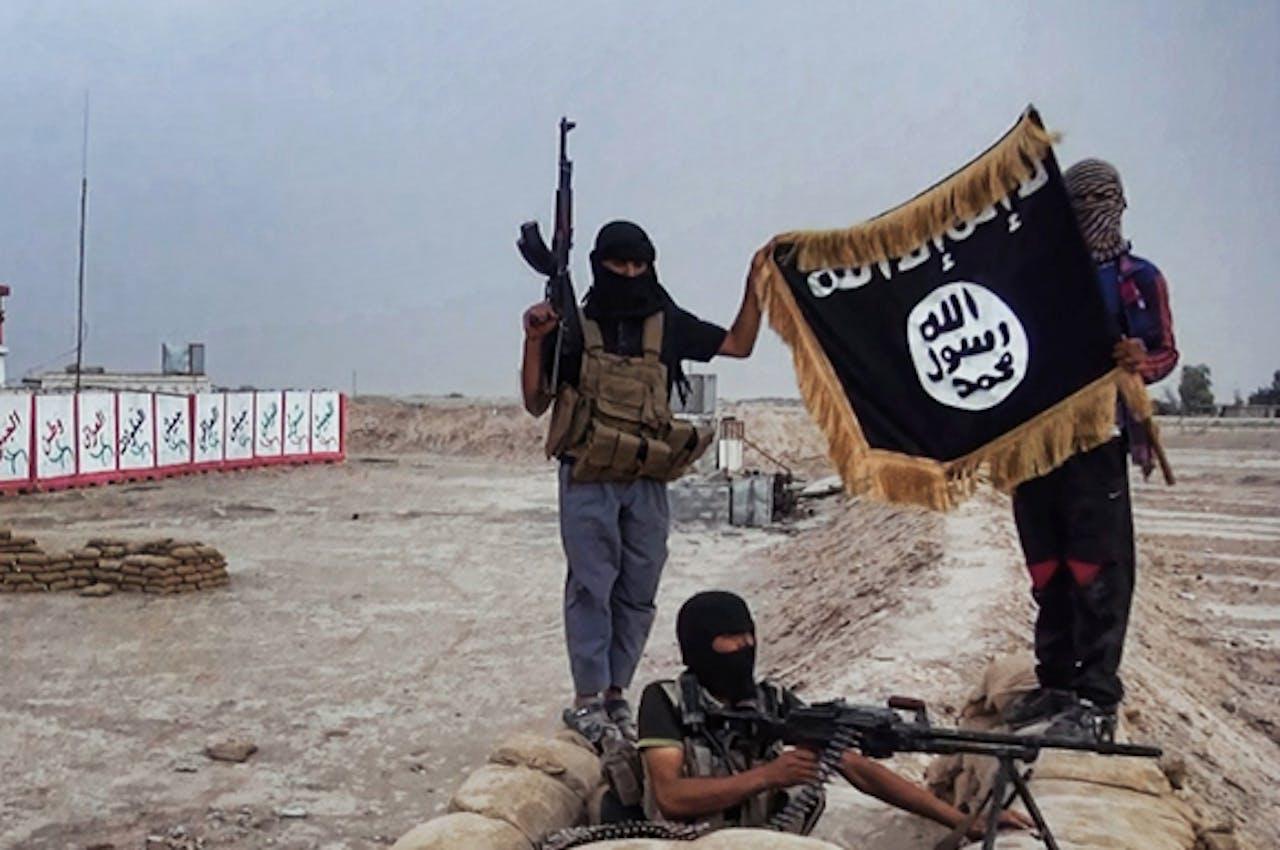 ISIS-strijders in de Noord-Iraakse provincie Salahuddin.