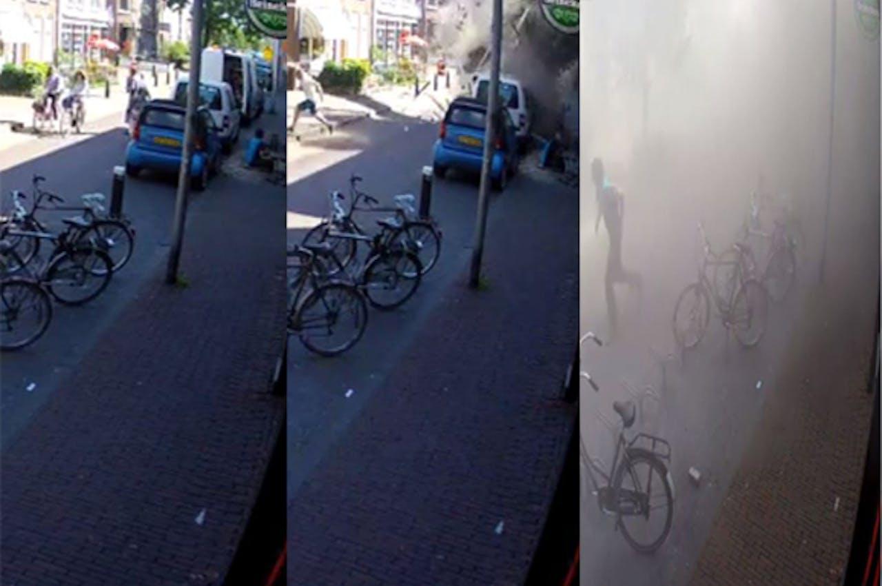 Beelden uit video ongeluk kraan Alphen - Bron: David's