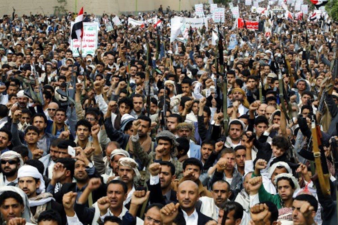 Houthi-aanhangers. EPA