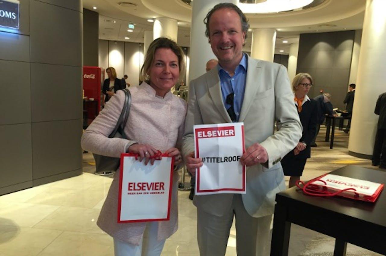 Redacteur Fleuriette van de Velde met Rene Rijckevorsel (plaatsvervangend hoofdredacteur). Foto BNR / Harmen van der Veen