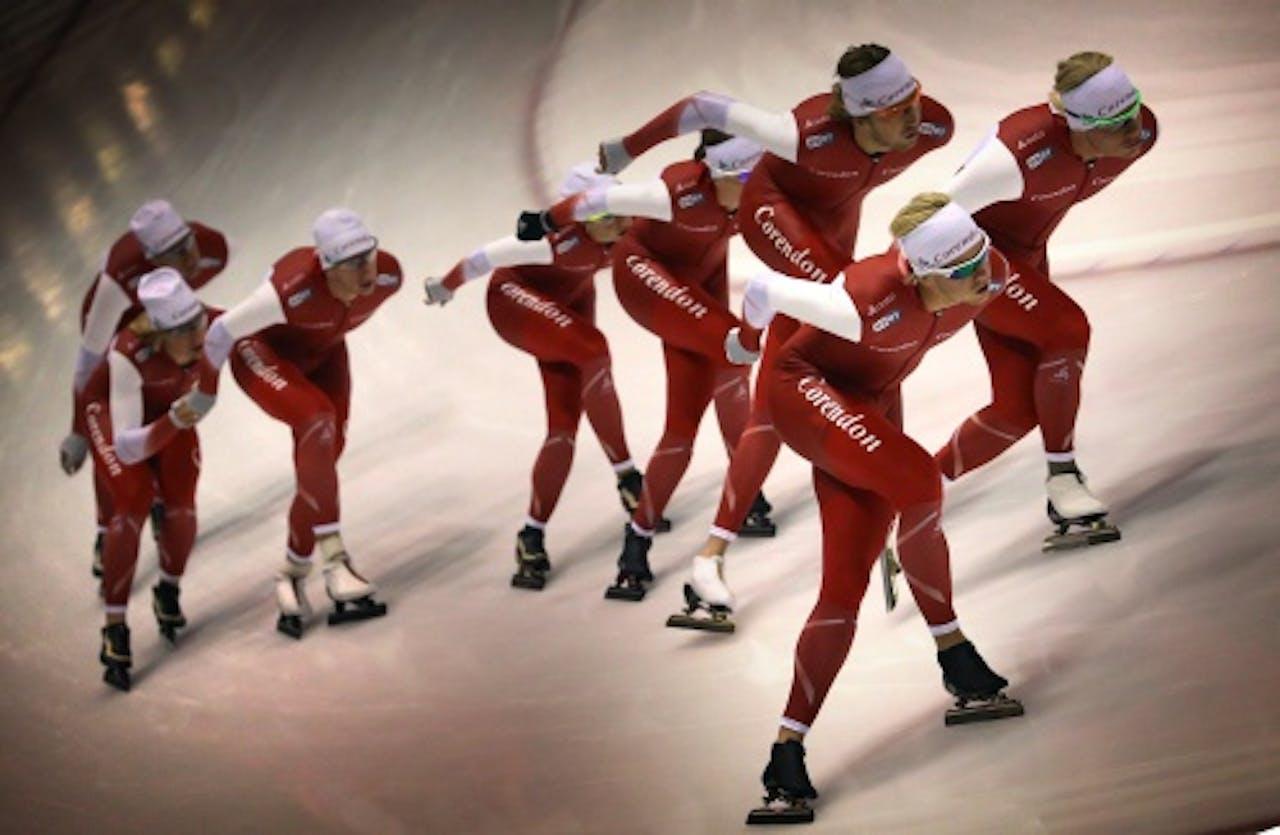 ANP De schaatsploeg van team Corendon