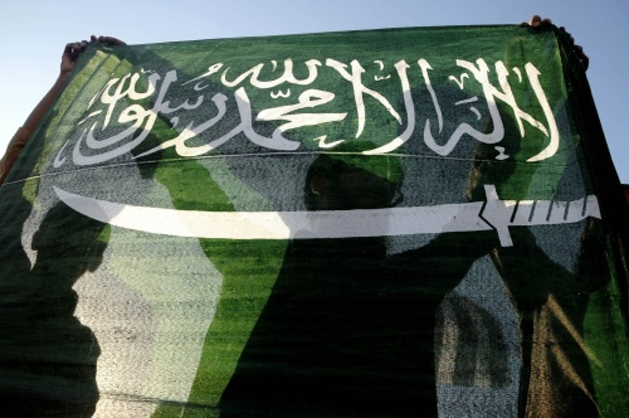 Archiefbeeld van een Saudische vlag. EPA