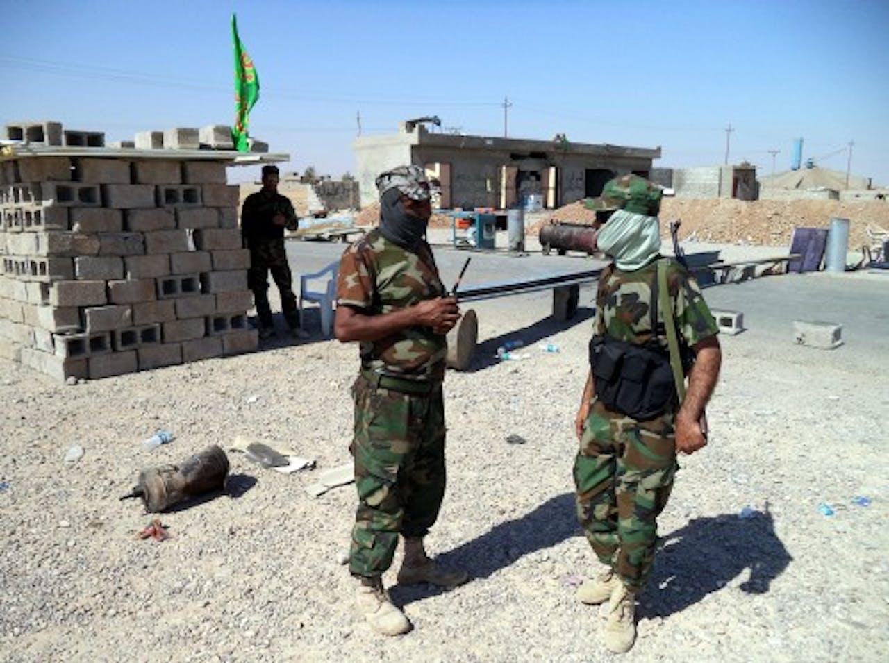 Archiefbeeld van sjiitische milities in Tuz Khurmatu. EPA