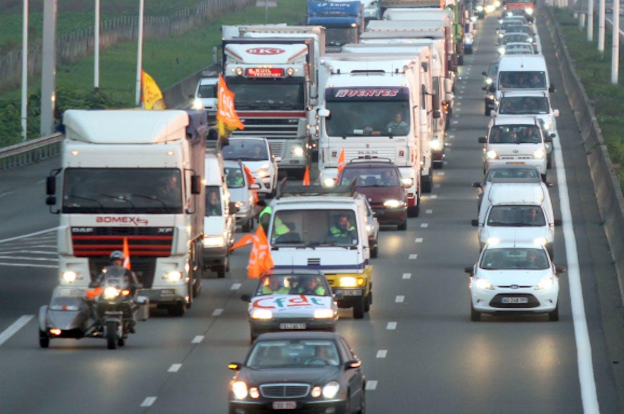 Archieffoto van de A1 tussen Lille en Parijs (ANP)