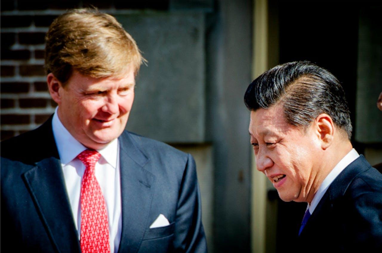Koning Willem-Alexander en Xi Jinping, president van China. Foto: ANP