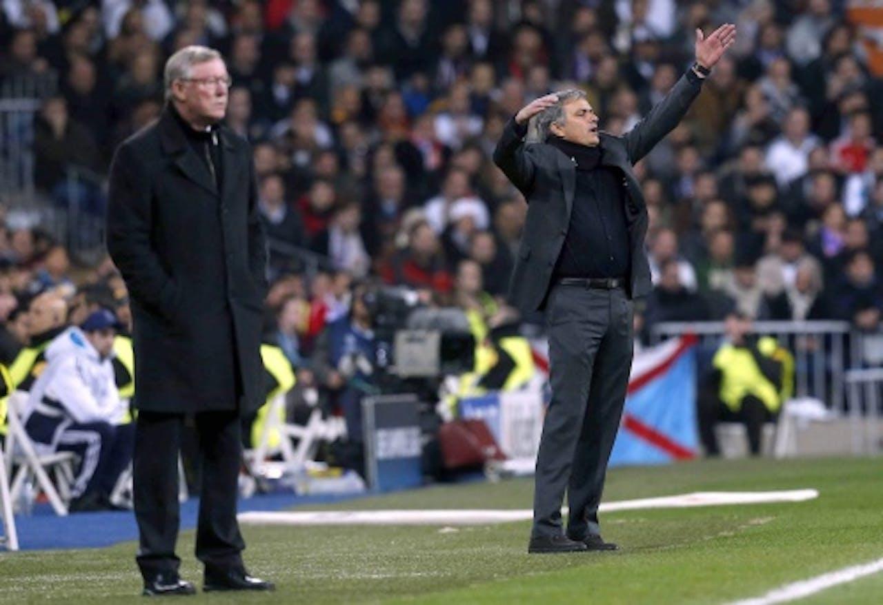 Ferguson (L) en Mourinho . Archieffoto EPA
