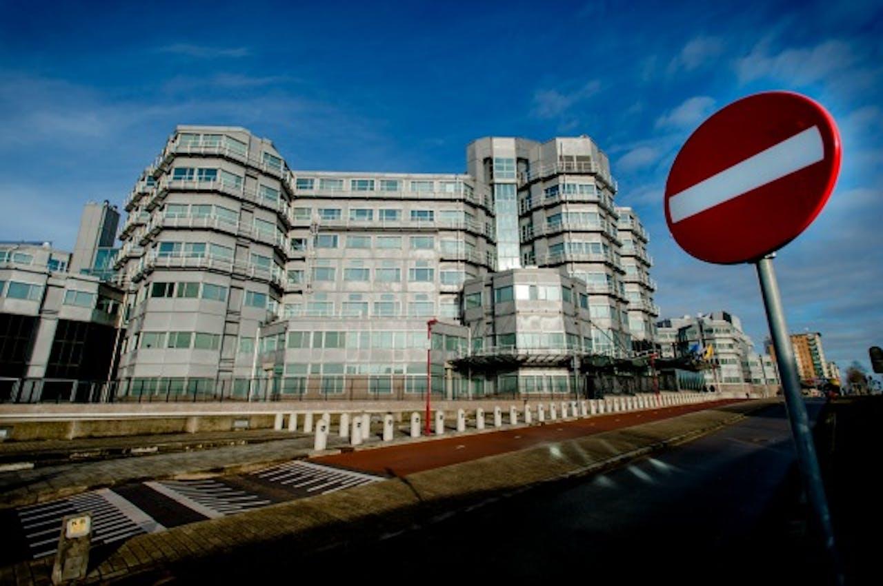 De buitenkant van het AIVD-gebouw in Zoetermeer. Foto ANP
