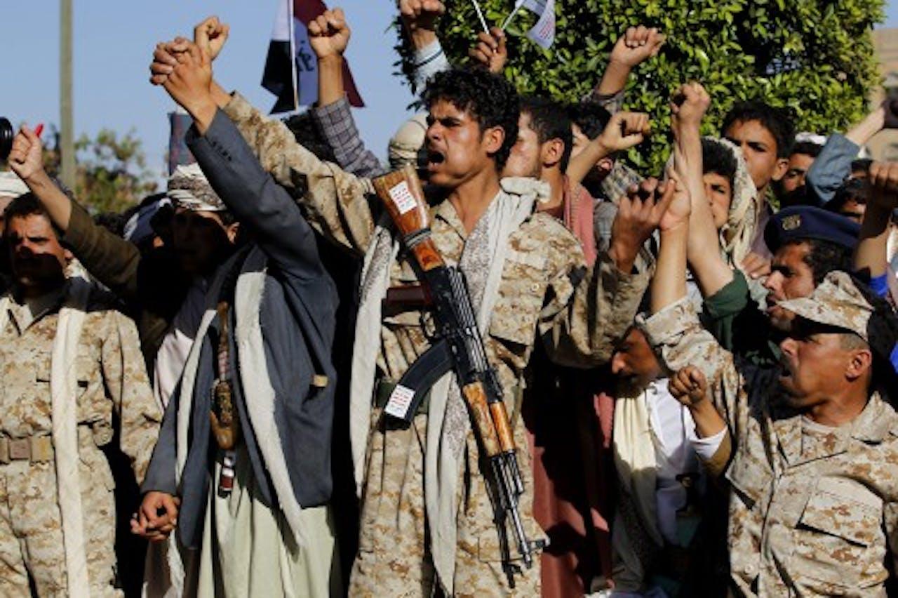 Archiefbeeld van Houthi's. EPA