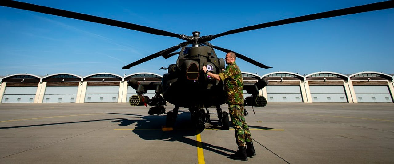 Een Apache-helikopter op archiefbeeld. Foto: ANP