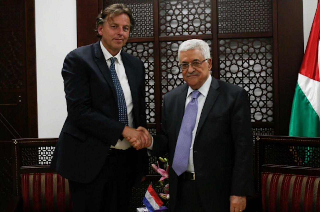 Minister van Buitenlandse Zaken Bert Koenders en Mahmoud Abbas