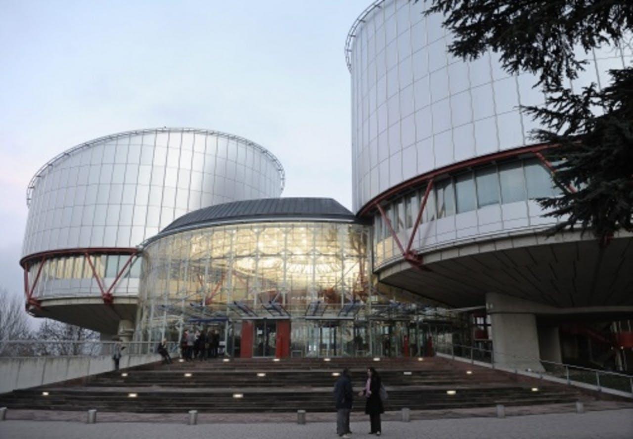 Het Europese Hof voor de Rechten van de Mens in Straatsburg. EPA