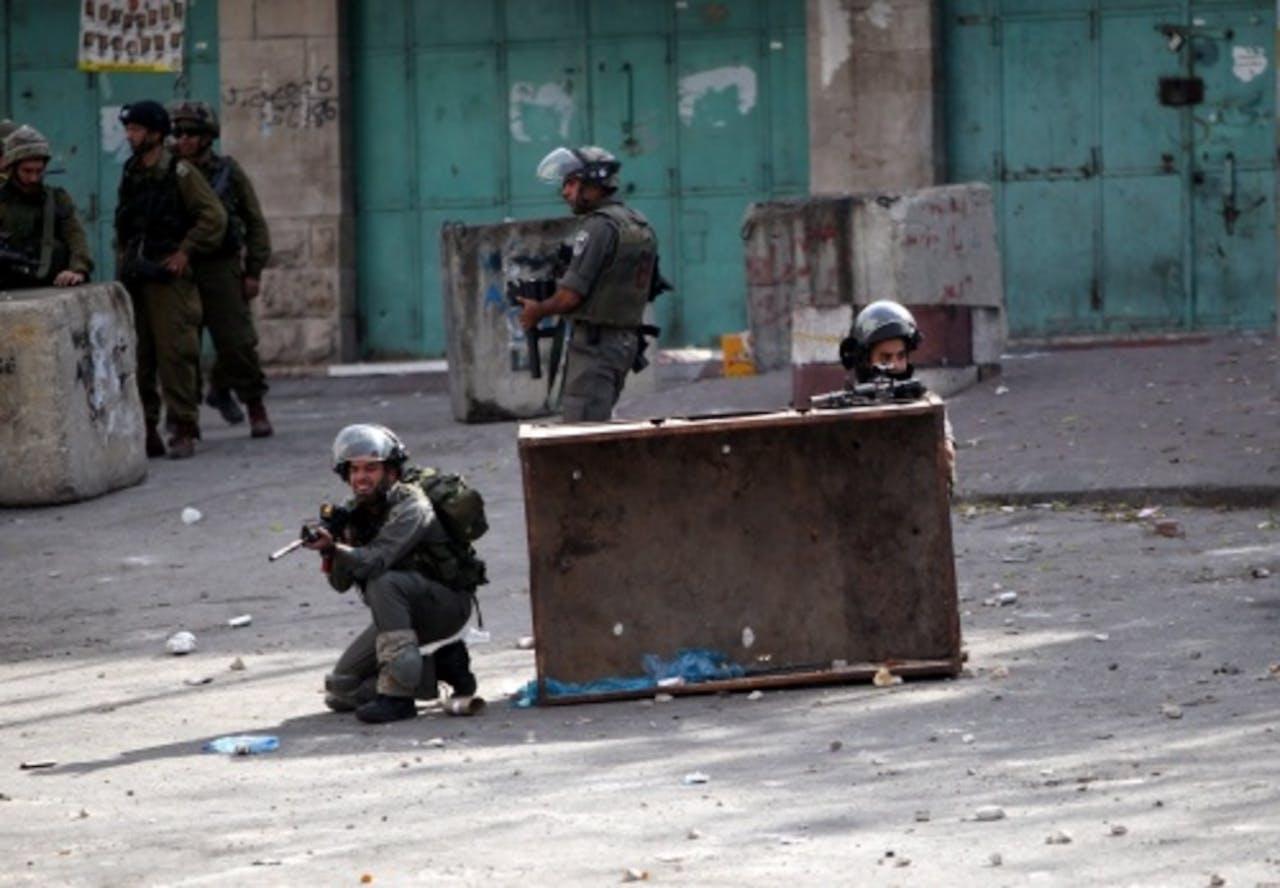 Israëlische soldaten op de Westelijke Jordaanoever. EPA