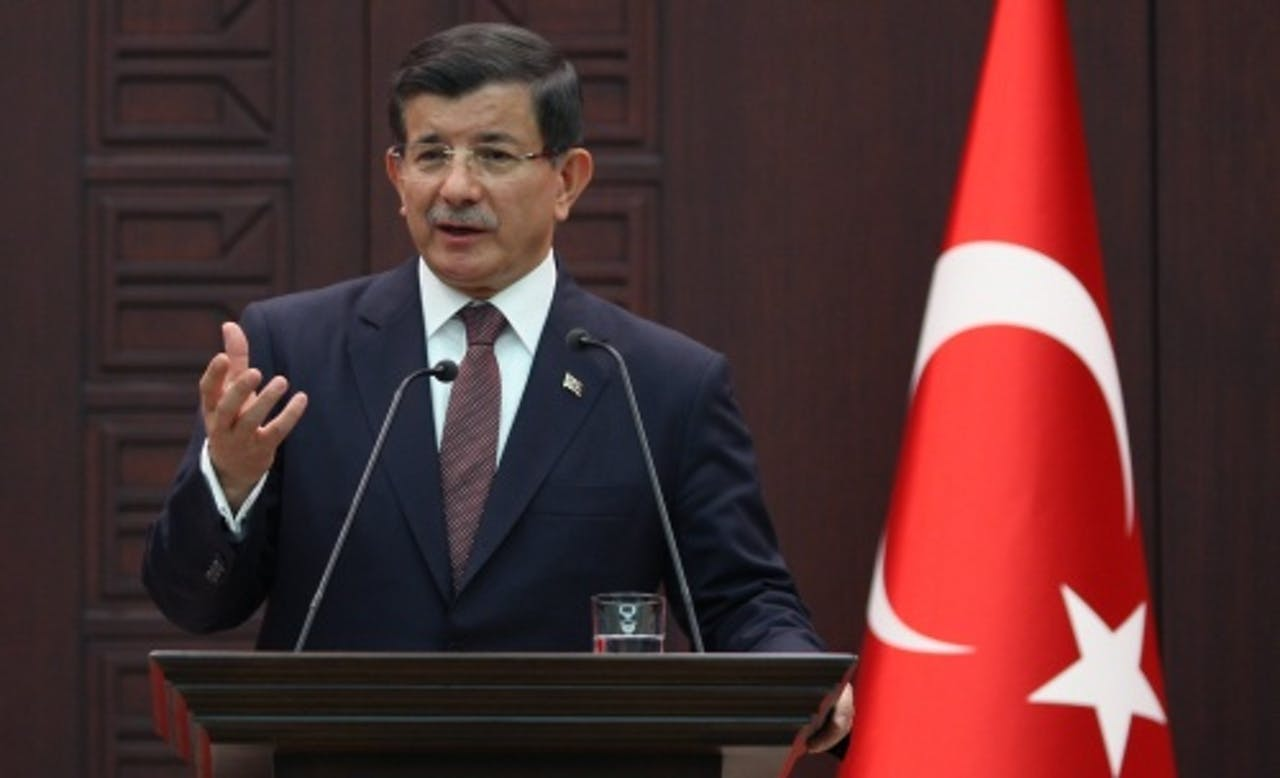 Premier Ahmet Davutoglu. EPA