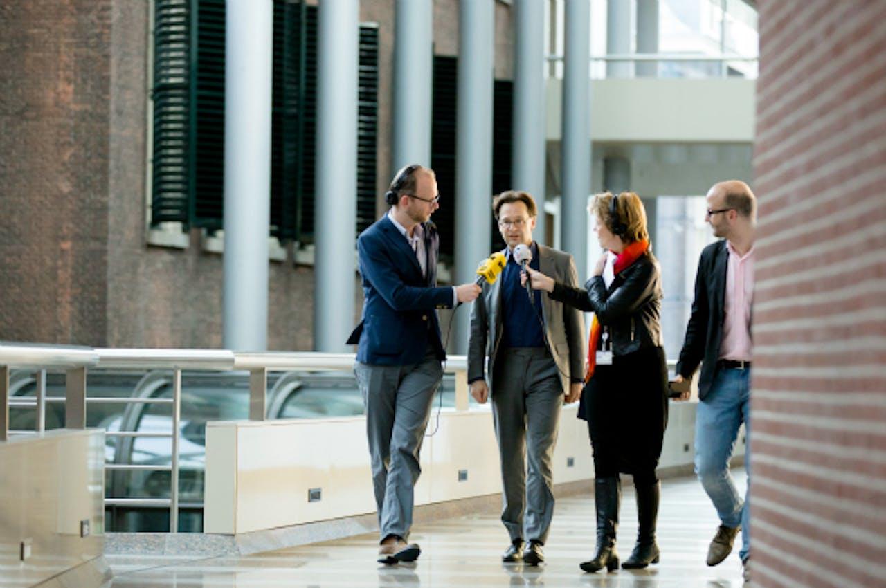 SP-Kamerlid Ronald van Raak arriveert bij de presidiumvergadering. Foto: ANP