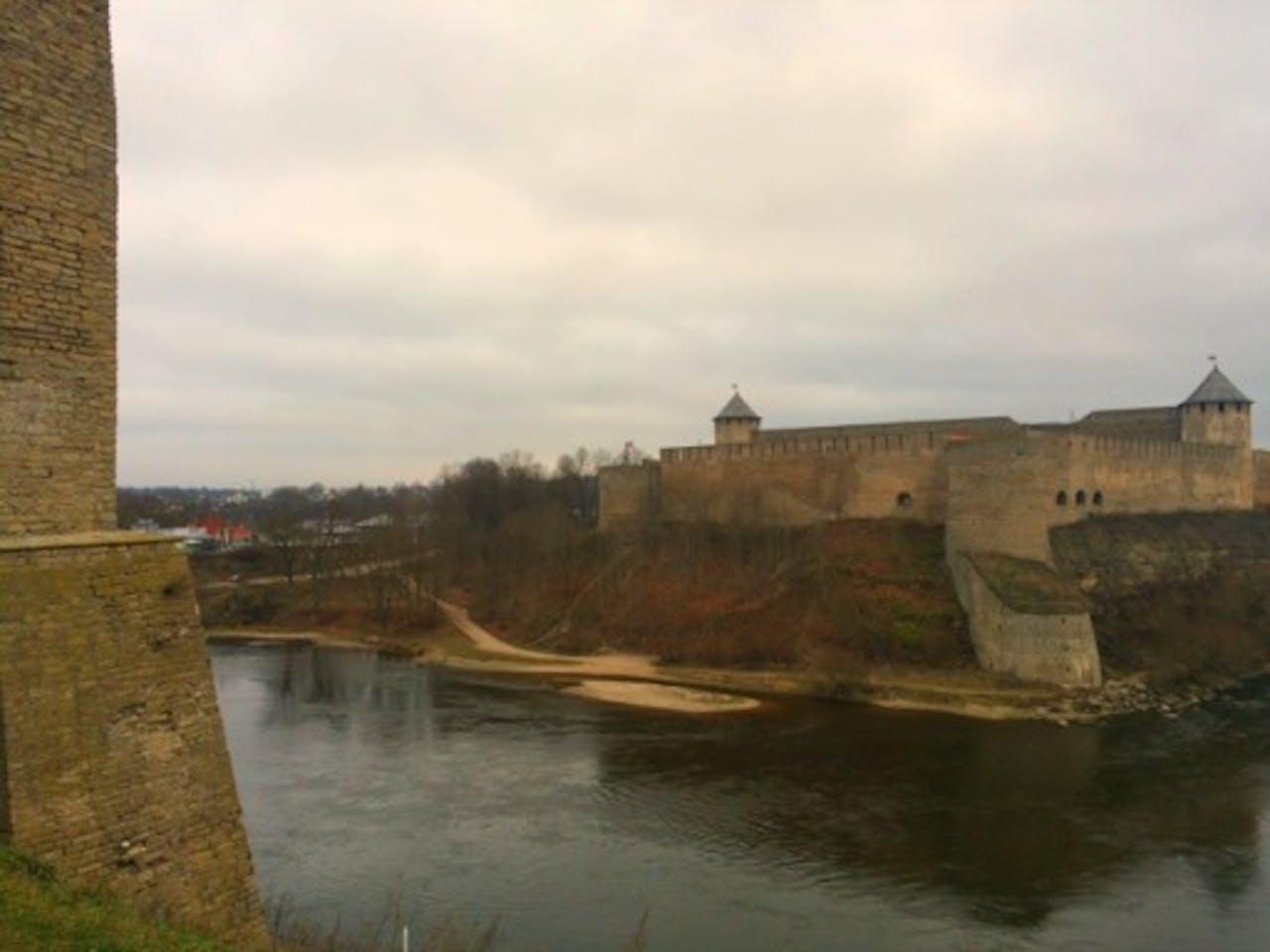 Rusland gezien vanaf Narva
