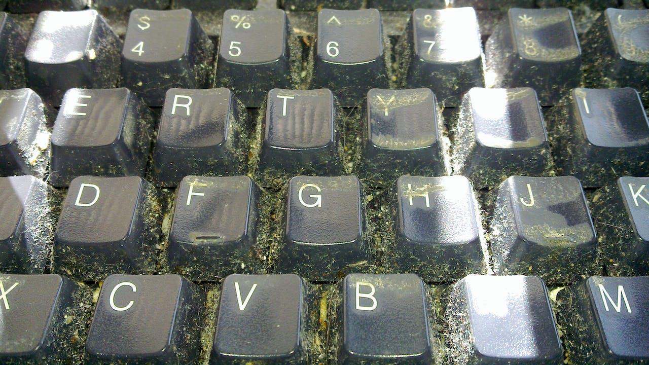 Vervuild toetsenbord