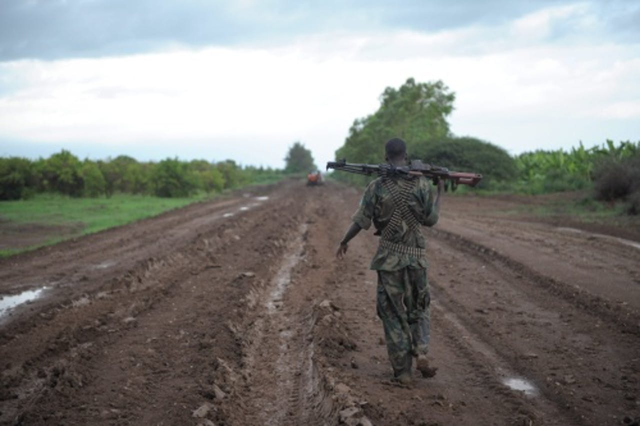 Een soldaat van de Afrikaanse Unie. EPA