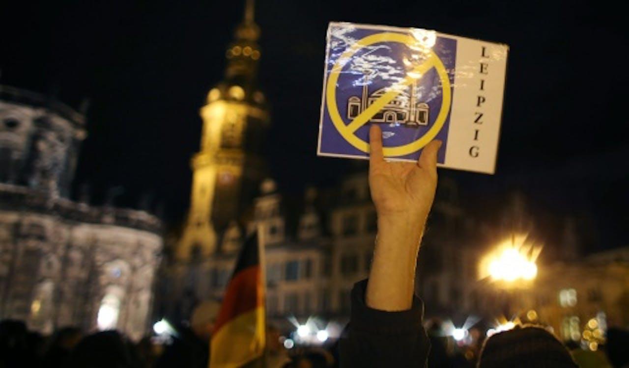 Demonstratie van Pegida in Duitsland. EPA