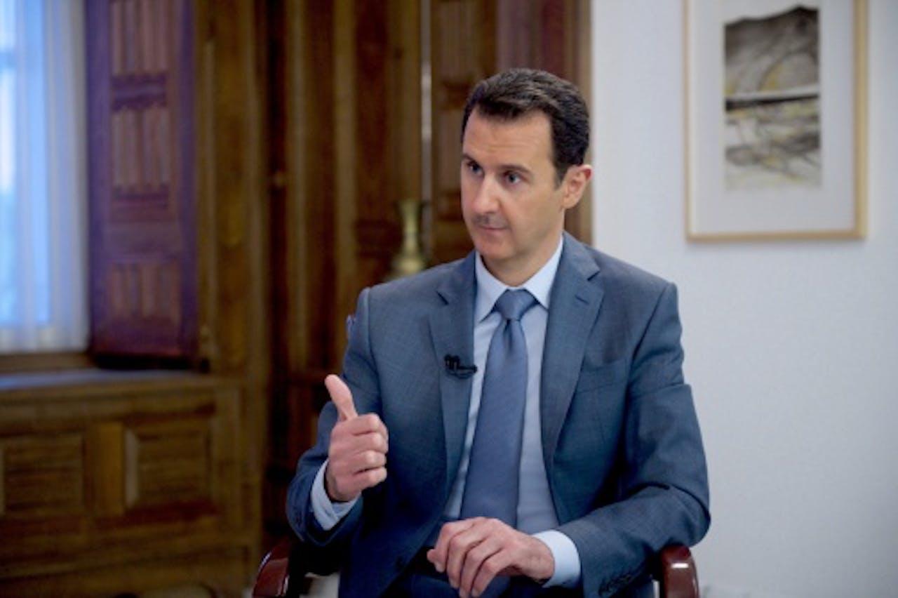De Syrische president Bashar Hafiz al-Assad (EPA)