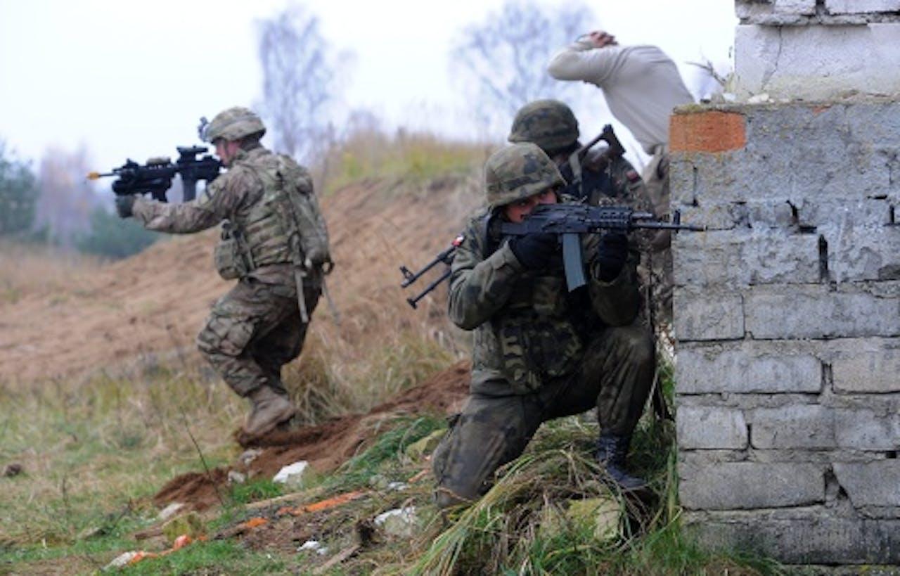 Archieffoto, Amerikaanse troepen tijdens een training in Polen, november 2014. EPA