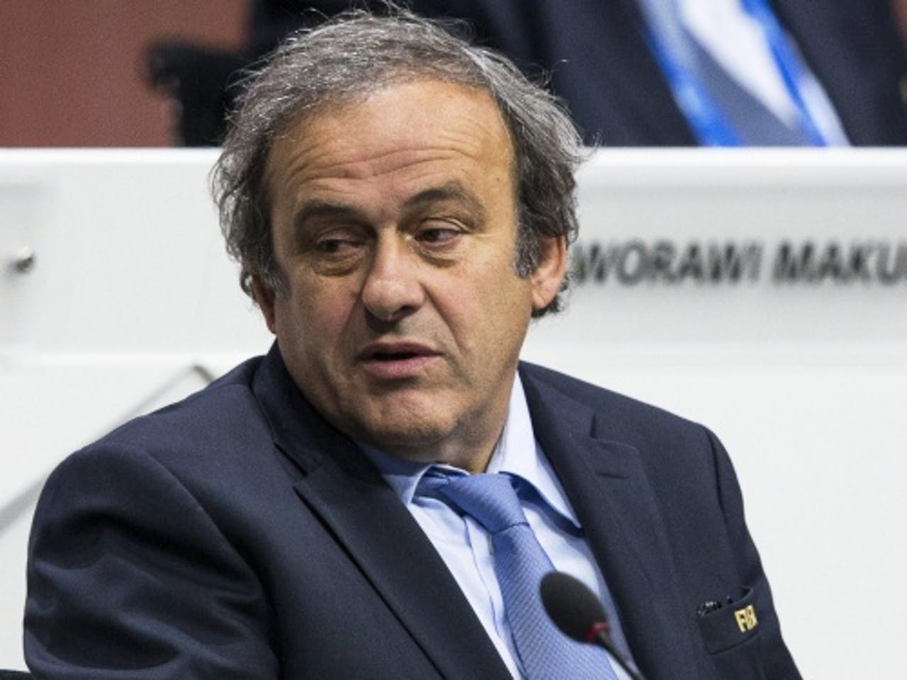 UEFA-voorzitter Platini. EPA