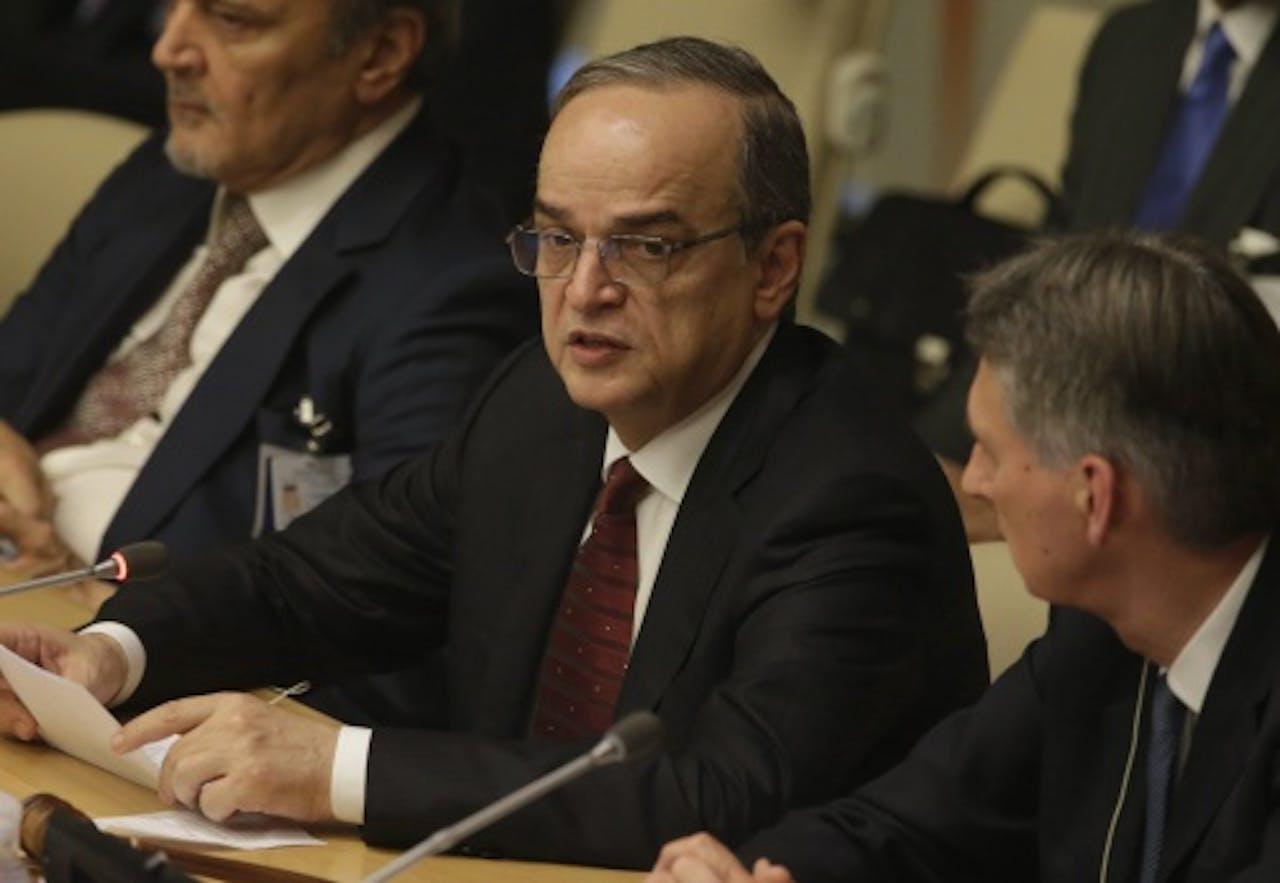 Hadi al-Bahra, president van de Syrische oppositie. EPA