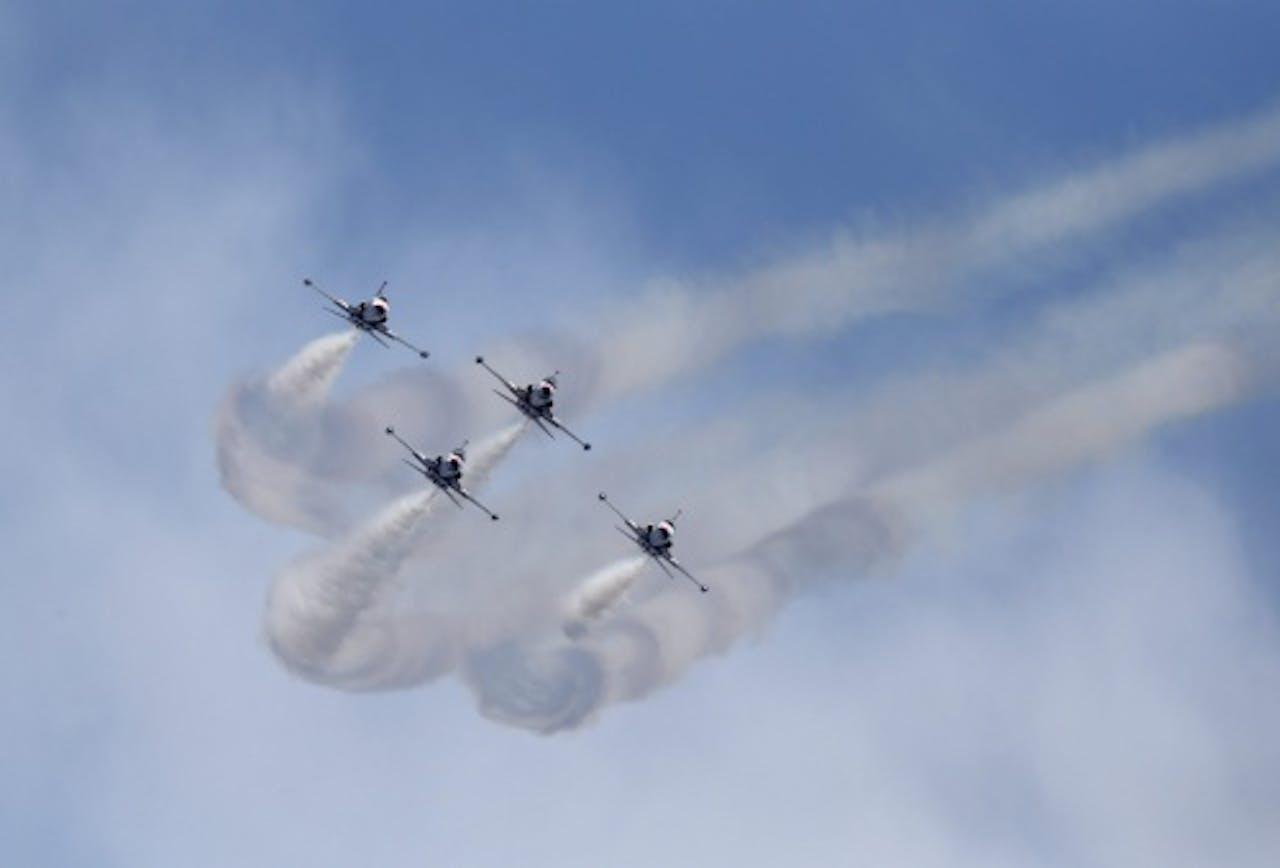 Archiefbeeld Turkse straaljagers bij een vliegshow (EPA)