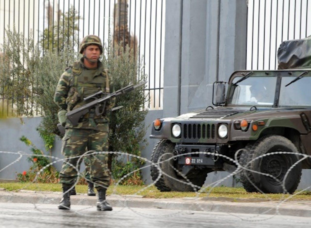 Archiefbeeld van een Tunesische militair. EPA
