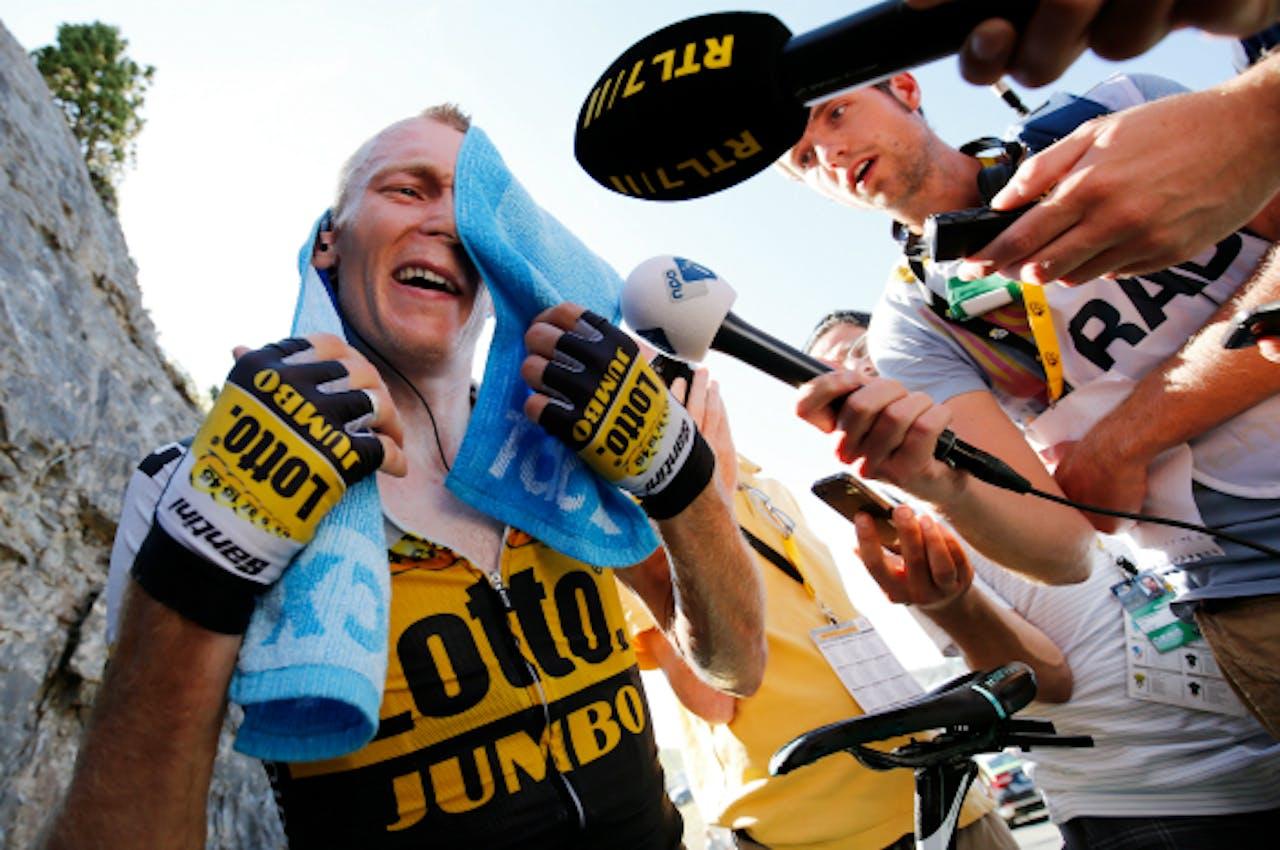 Foto: ANP - Robert Gesink na de finish van de tiende etappe
