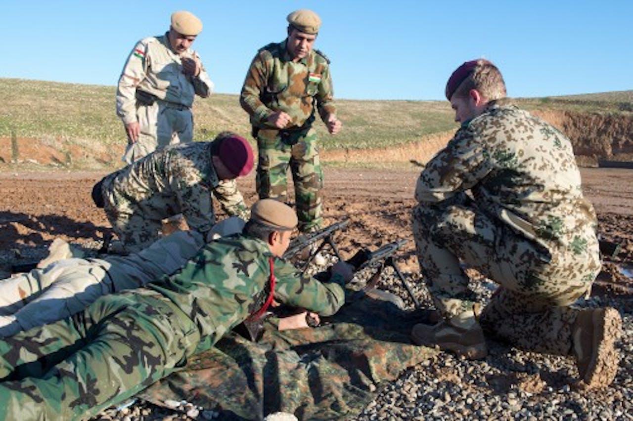 Duitse militairen in Irak. EPA