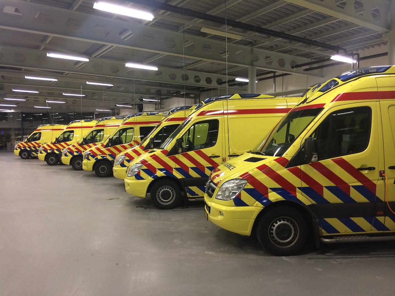 De ambulancepost in Leiden