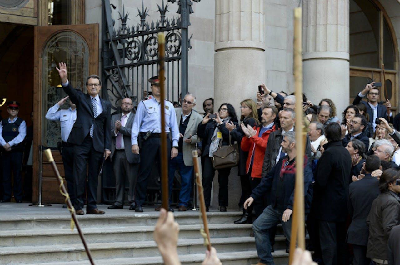 Mas voor de rechtbank in Barcelona. Foto: ANP