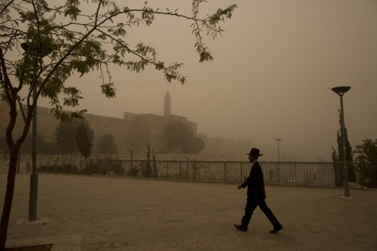 Zandstorm in Jeruzalem. EPA