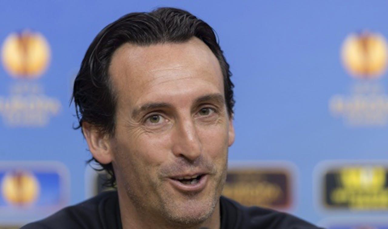Unai Emery, coach van Sevilla. EPA