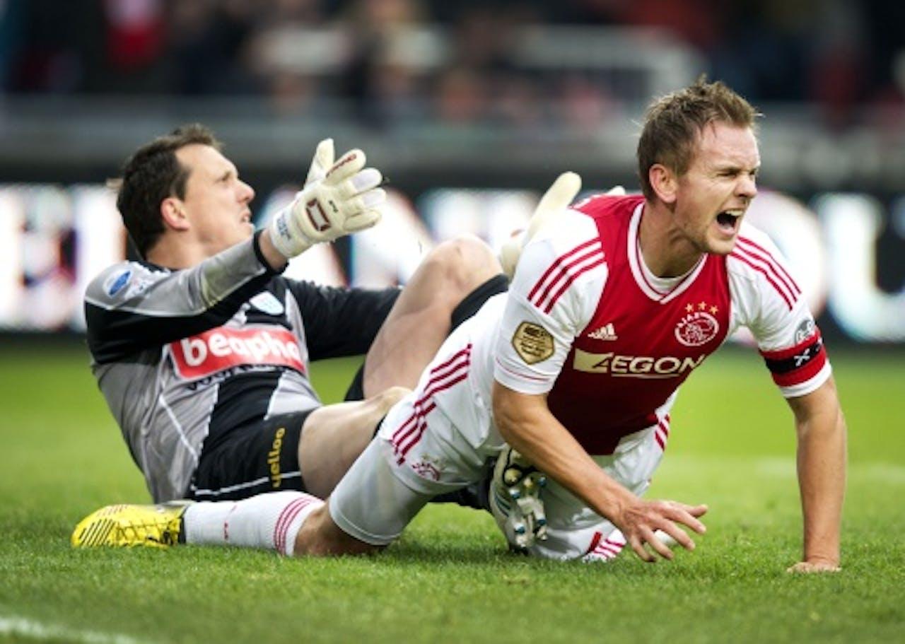 Boer met Ajax-aanvoerder Siem de Jong. ANP