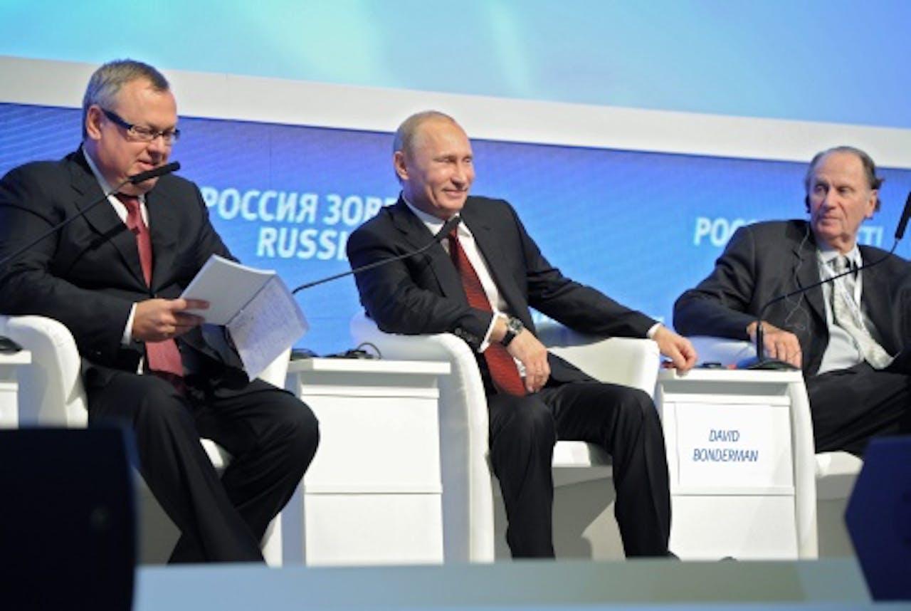 Andrei Kostin (L). EPA