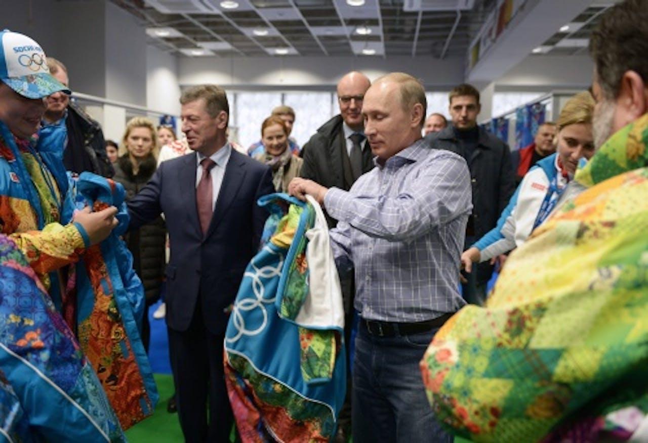 De Russische president Poetin in Sotsji (EPA)