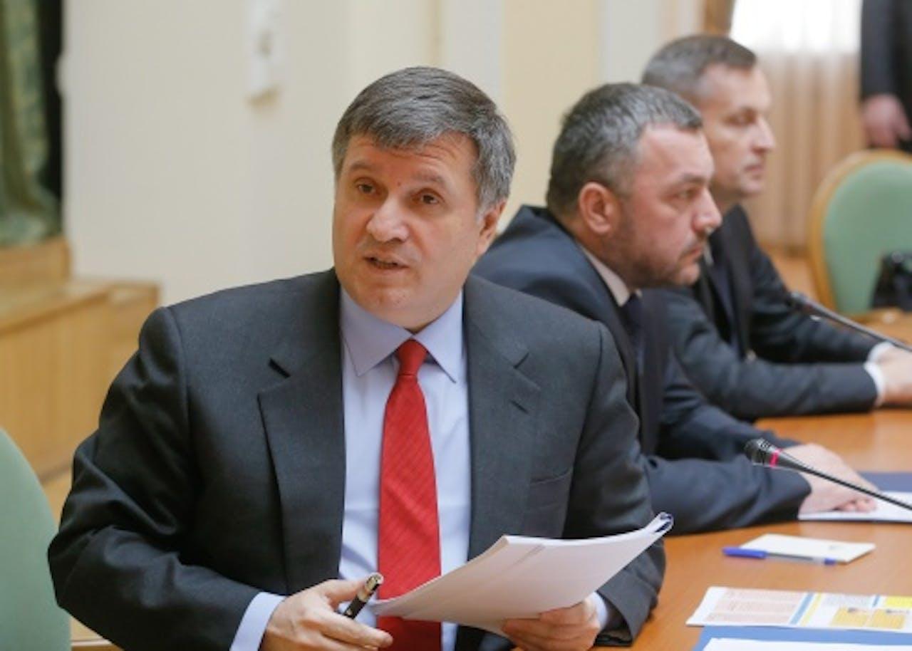 Arsen Avakov (L). EPA