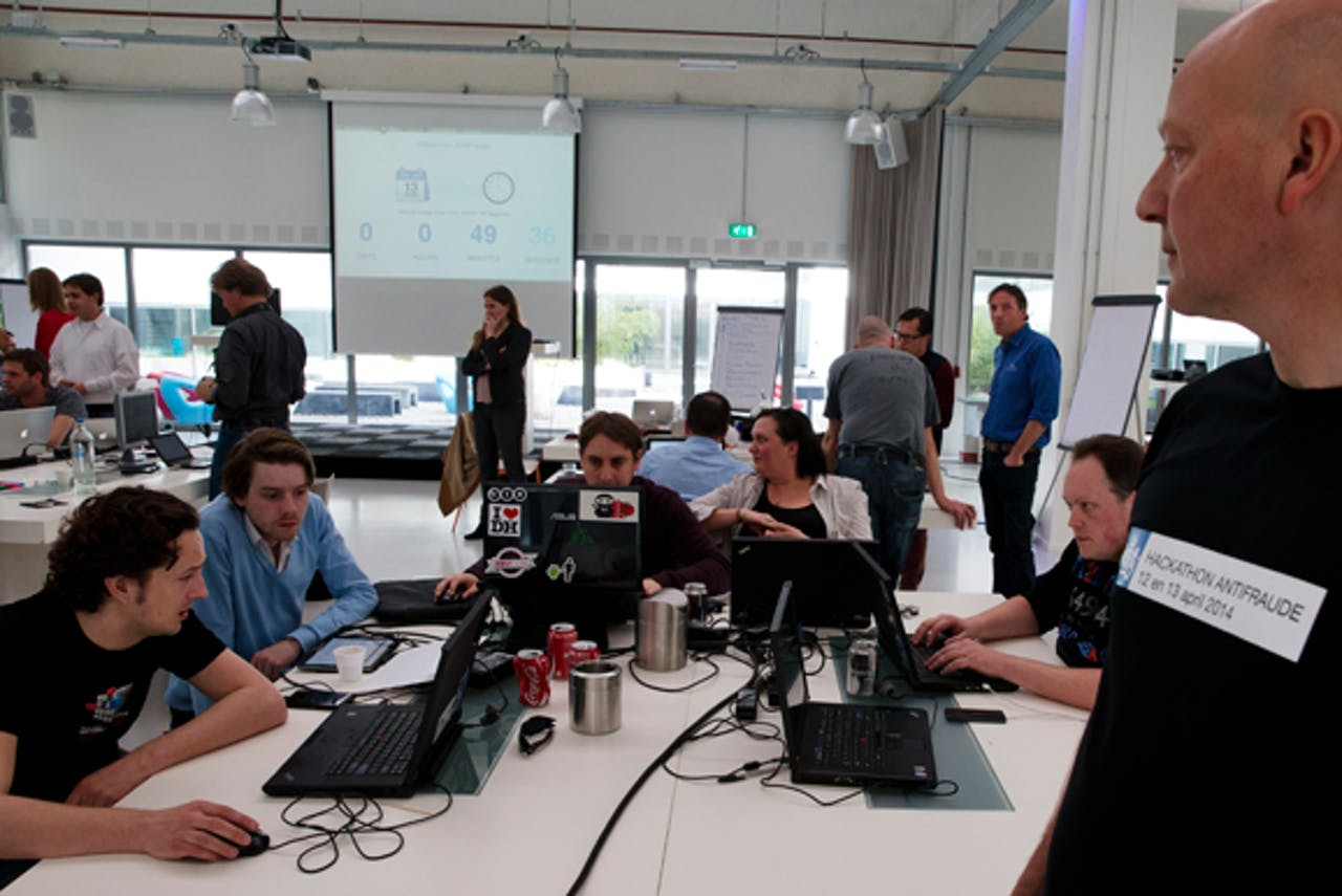 Deelnemers van de Hackaton Antifraude in Den Haag