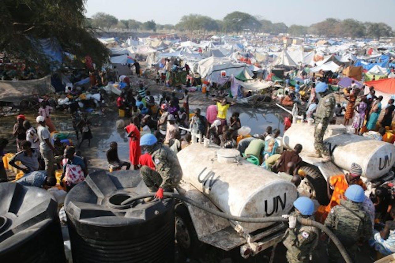 Vluchtelingenkamp in Zuid-Sudan. EPA