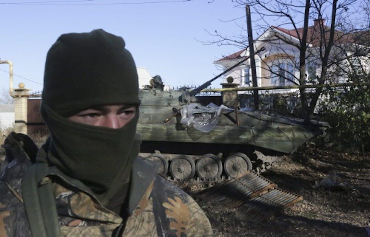 Archiefbeeld van een soldaat van het Oekraïense leger. EPA