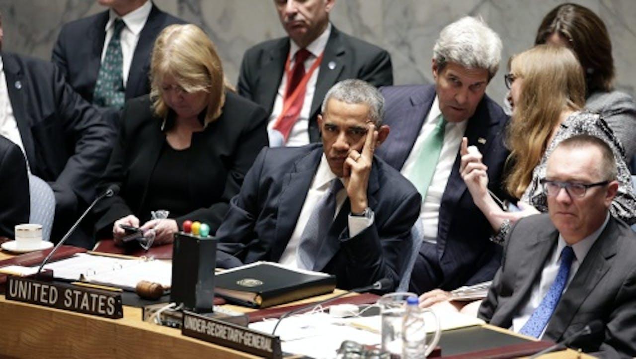 Obama bij de VN-Veiligheidsraad in september. EPA