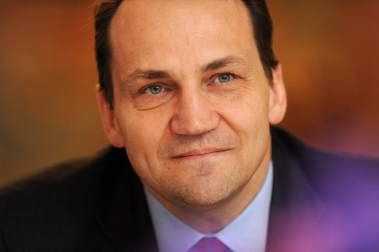 De Poolse minister van buitenlandse zaken Radoslav Sikorski. EPA