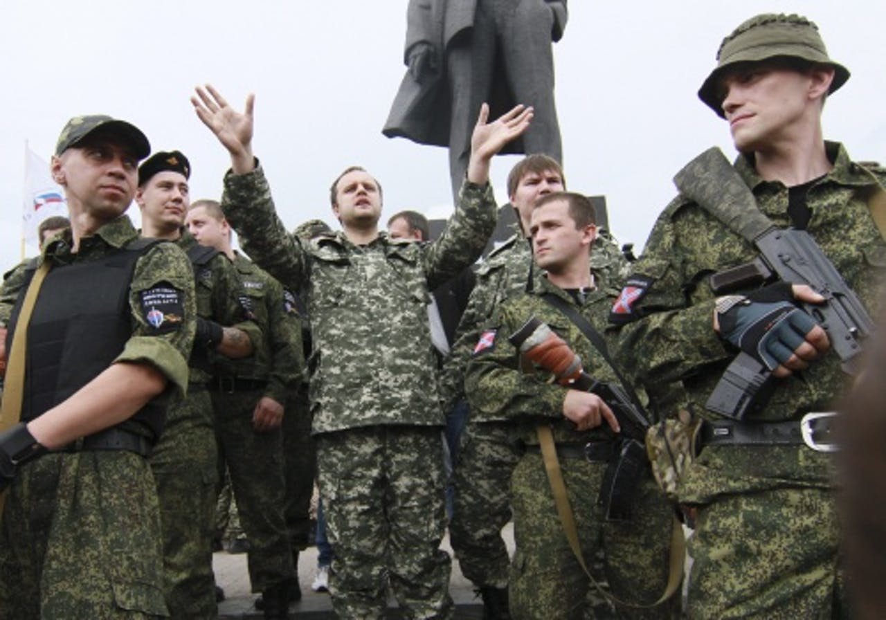 Russische seperatisten in Donetsk. EPA