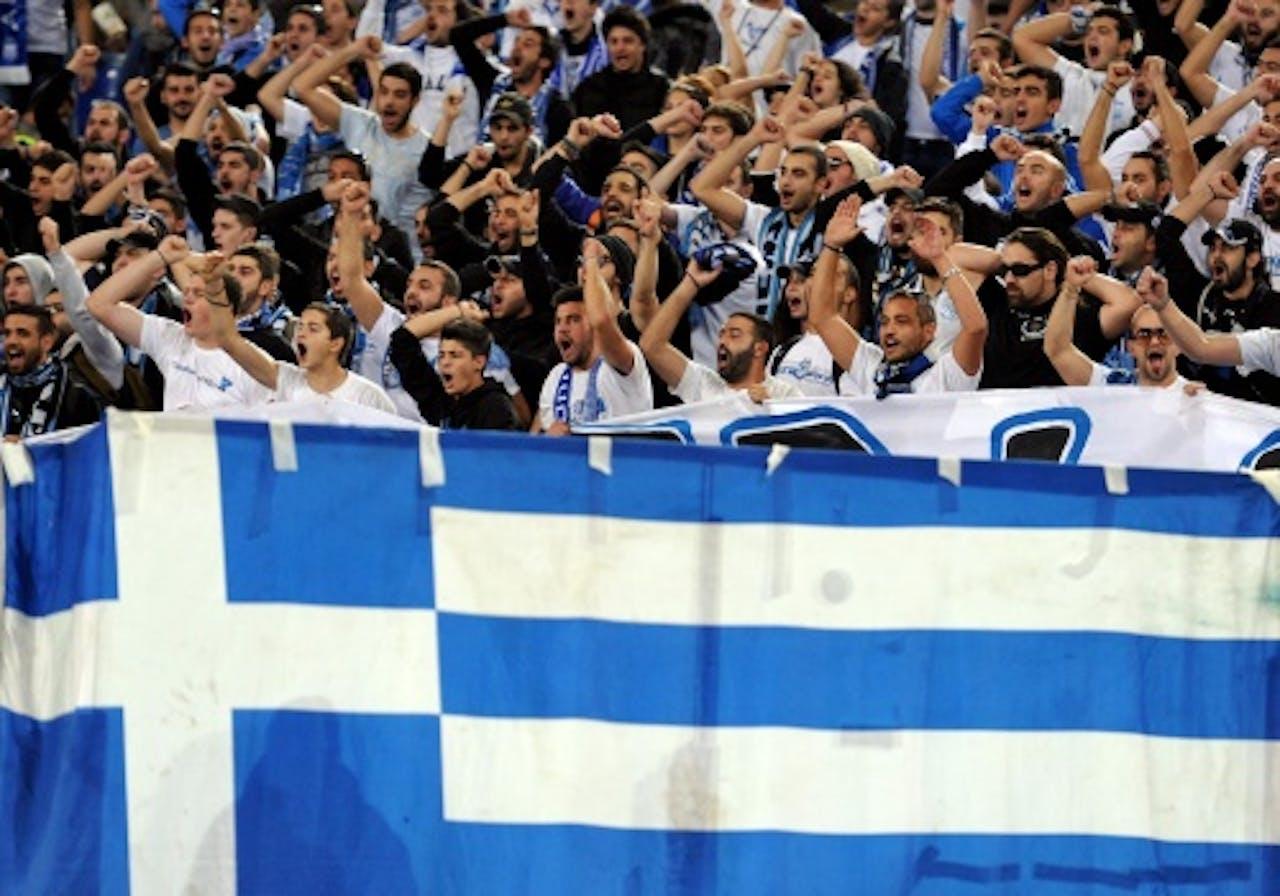 Eerdere beelden van fans AEL Limassol. EPA