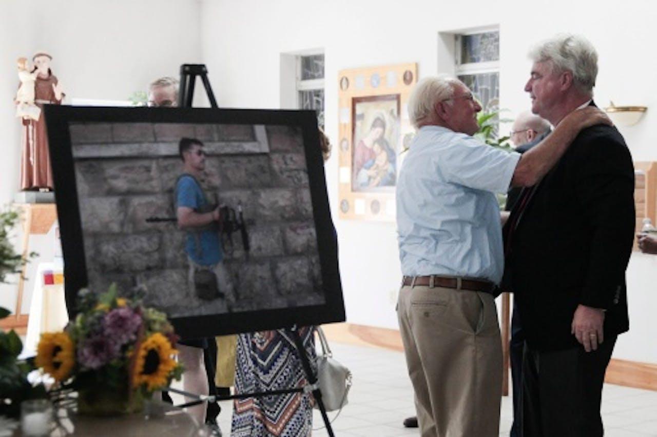 Herdenking van de onthoofde journalist James Foley. EPA