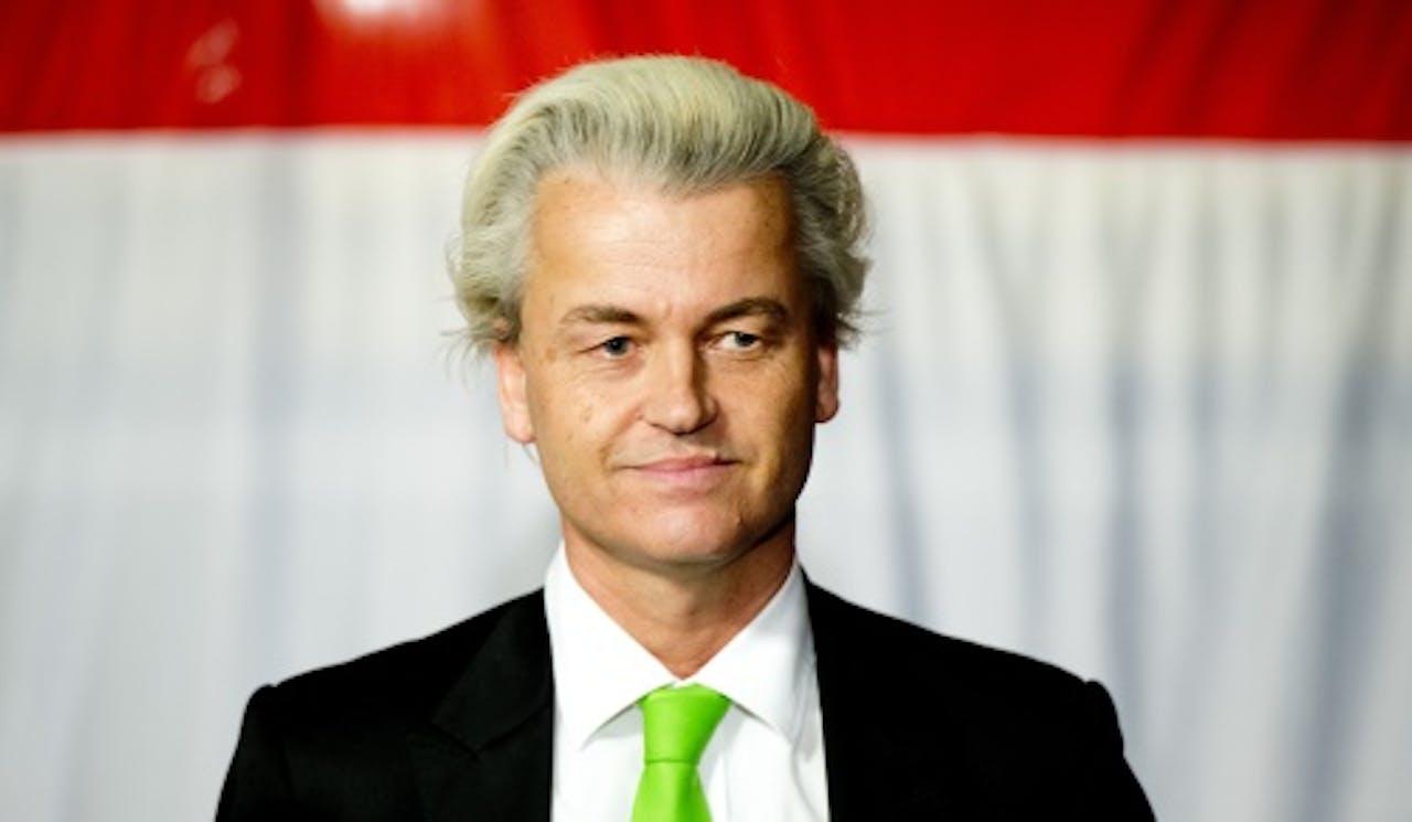 Geert Wilders woensdagavond. ANP