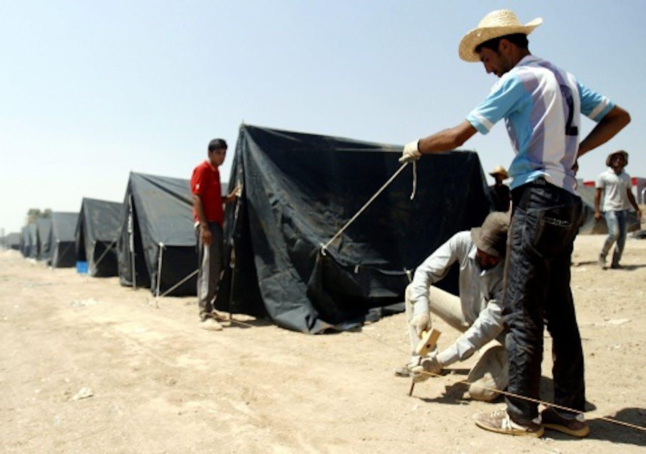 Vluchtelingenkamp in Irak. EPA