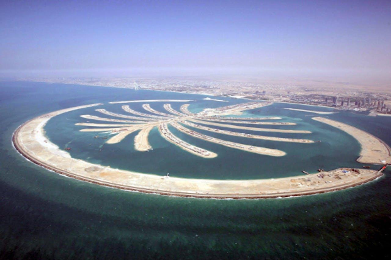 De palm-eilanden bij Dubai