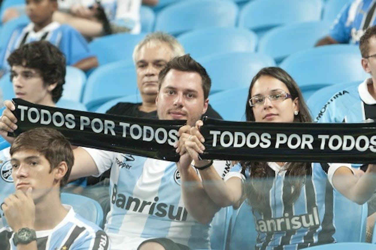 Fans van Gremio. EPA